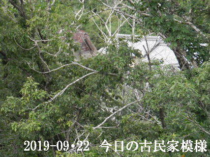 2019-09・22 今日の古民家模様.JPG